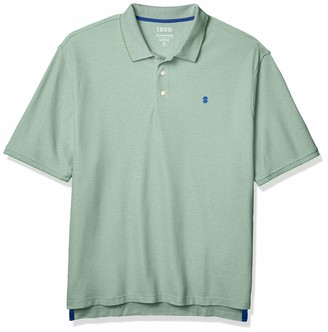 Izod Men's Big & Tall Fit Advantage Performance Short Sleeve Solid Polo