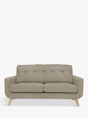 John Lewis & Partners Barbican Medium 2 Seater Sofa, Light Leg, Aquaclean Connie Grey