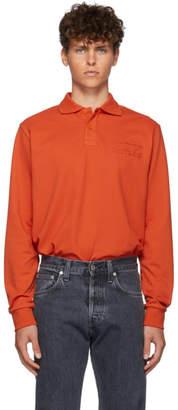 Martine Rose Orange Jacquard Polo