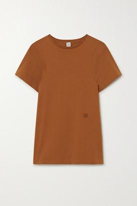 Totême Espera Embroidered Organic Cotton-jersey T-shirt - Beige
