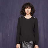 Maje T-shirt with golden buttons