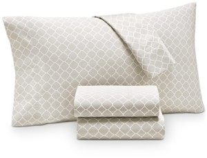Charter Club Damask Designs Printed Geo King Pillowcase Pair, 500 Thread Count, Created for Macy's Bedding