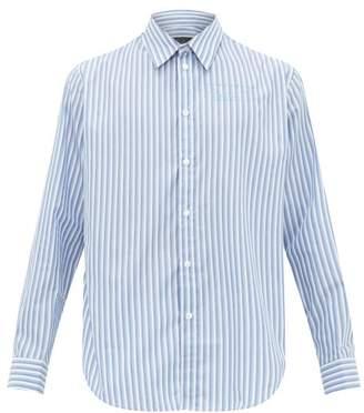 Martine Rose Striped Cotton-oxford Shirt - Mens - White Multi