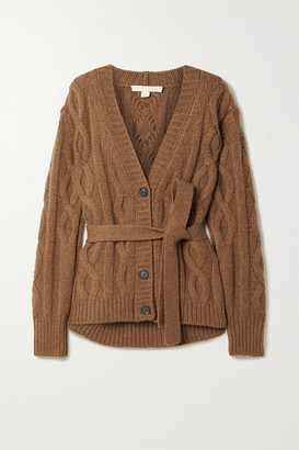 Brock Collection Belted Cable-knit Cashmere Cardigan - Brown