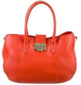Jimmy Choo Pebbled Leather Satchel
