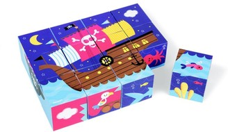 Janod 12-Piece Learning Toys Pirate Blocks