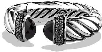 David Yurman Waverly Bracelet with Black Onyx & Black Diamonds