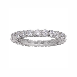 PRIMROSE Sterling Silver Cubic Zirconia Eternity Band