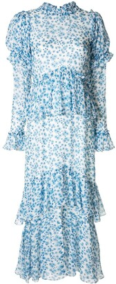 macgraw Parterre silk dress