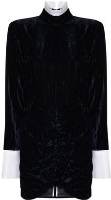 Rotate by Birger Christensen Miki velvet mini dress