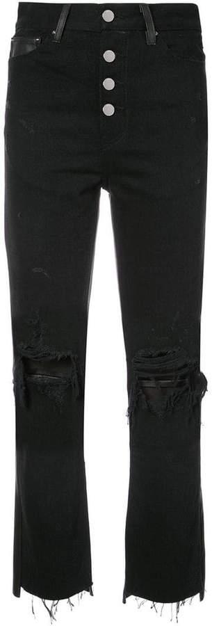 Amiri cropped flared jeans