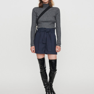 Maje Belted shorts with tennis stripes