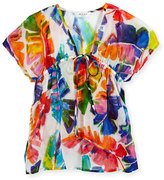 Milly Minis Childrenswear Banana Leaf Swim Coverup, Multicolor, Size 8-14
