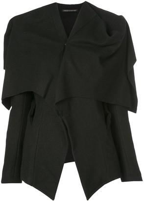 Yohji Yamamoto 'hand' open-back cape