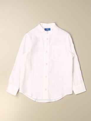 Fay Linen Shirt With Mandarin Collar
