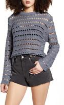 Woven Heart Crochet Sweater