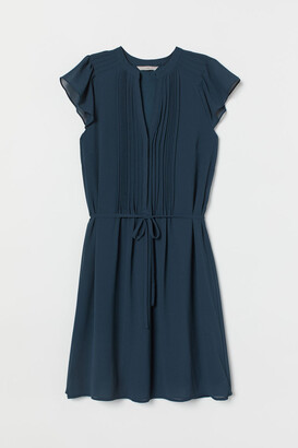 H&M Tie Belt Dress - Turquoise
