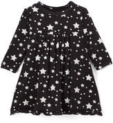 Kickee Pants Black & Silver Stars Swing Dress - Infant