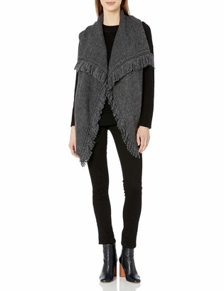 Joie Women's Guarine B Cozy Reversed Jersey Half Cardigan Stitch