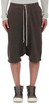 Rick Owens Men's Jersey Drop-Rise Shorts-GREY