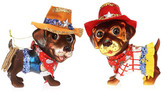 "Mark Roberts Cow Doggie 5"" Ornaments - Set of 2"