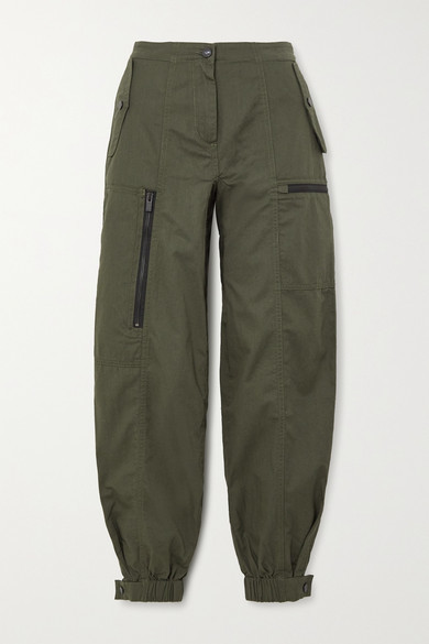 McQ Cotton-drill Track Pants - Army green