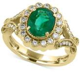 Effy Brasilica by Emerald (1-1/2 ct. t.w.) and Diamond (3/8 ct. t.w.) Ring in 14k Gold