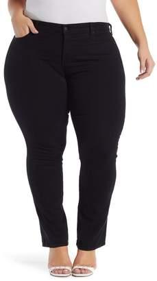 NYDJ Marilyn Rhinestone Straight Leg Jeans (Plus Size)