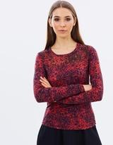 Karen Millen Leopard Print Jersey Top