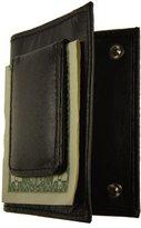 AG Jeans A&G Wallets Leather Bifold Magnetic Money Clip With Snap Closure