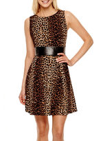 JCPenney Alyx Sleeveless Animal Print Fit-and-Flare Dress