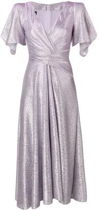 Talbot Runhof wrap-style long dress