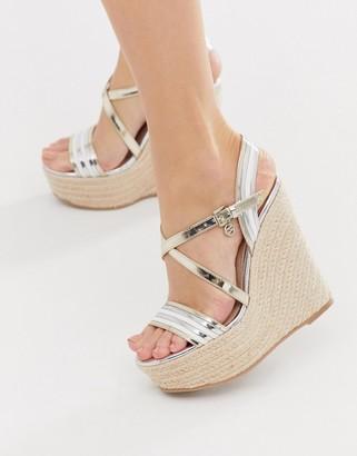 Miss KG platform heeled wedges-Multi