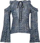 Derek Lam 10 Crosby cut-detail blouse - women - Silk - 0