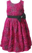 Sweet Heart Rose Girls Dress, Little Girls Organza Bow Dress