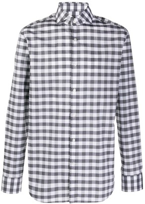 HUGO BOSS Long Sleeve Regular Fit Checked Shirt