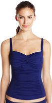 LaBlanca La Blanca Women's Solid Over The Shoulder Sweetheart Tankini
