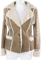 Laurèl Beige Leather Jacket for Women