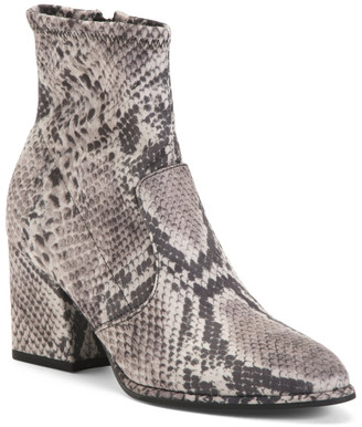 Pointy Toe Snake Booties