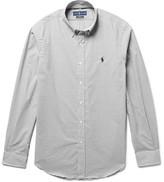 Polo Ralph Lauren Button-down Collar Checked Cotton-poplin Shirt - Gray