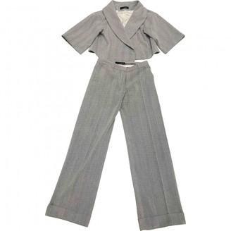 Amanda Wakeley Grey Wool Trousers