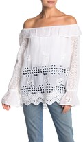 Johnny Was Lilith Off the Shoulder Eyelet Blouse