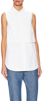Proenza Schouler Overlay Button Front Sleeveless Blouse