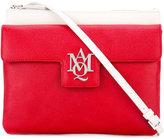 Alexander McQueen Insignia contrast panel satchel - women - Bos Taurus - One Size