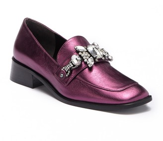 Marc Jacobs Tilde Embellished Leather Loafer