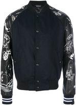 Lanvin embroidered bomber jacket - men - Acrylic/Polyamide/Wool/Virgin Wool - 46