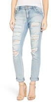 BP Women's Destroyed Skinny Boyfriend Jeans
