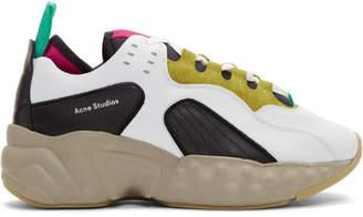 Acne Studios SSENSE Exclusive Yellow and Multicolor Rockaway Sneakers