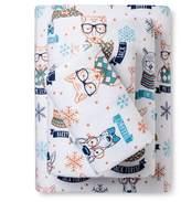 Pillowfort Hipster Animal Flannel Sheet Set