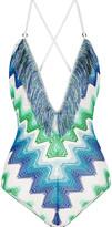 Missoni Mare fringed crochet-knit swimsuit